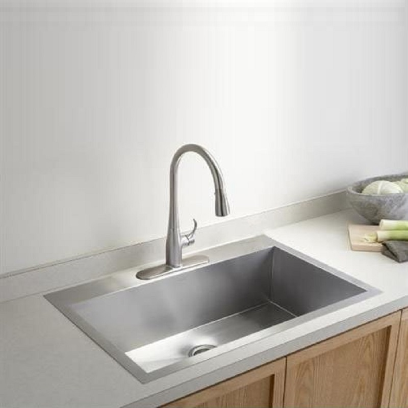 kohler vault 3821 1 na single bowl stainless steel kitchen sink - Kitchen Sink Uk